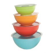 8 Piece Plastic Bowl Set