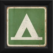 Sign Camping Framed Graphic Art