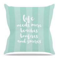 Beaches and Bonfires Throw Pillow