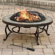Outdoor Natural Slate Wood Burning Fire Pit