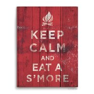 Keep Calm And Eat A Smore Textual Art Plaque
