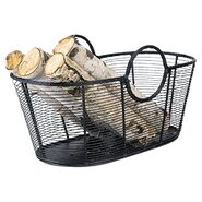 Harvest Wrought Iron Log Basket