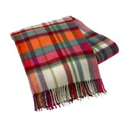Italian Plaid Lambswool Throw