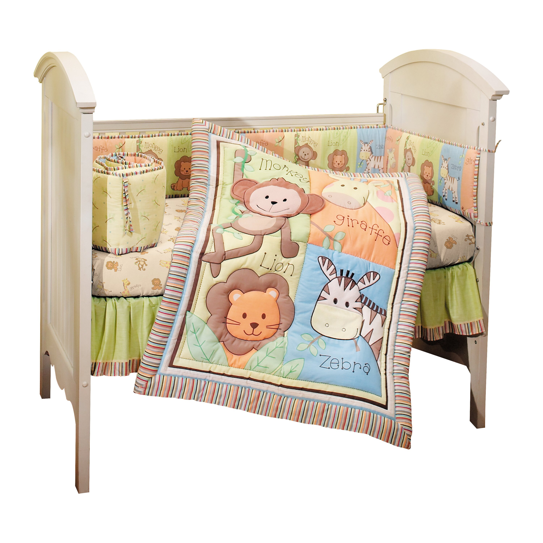 Monkey Jungle  Piece Crib Bedding Set