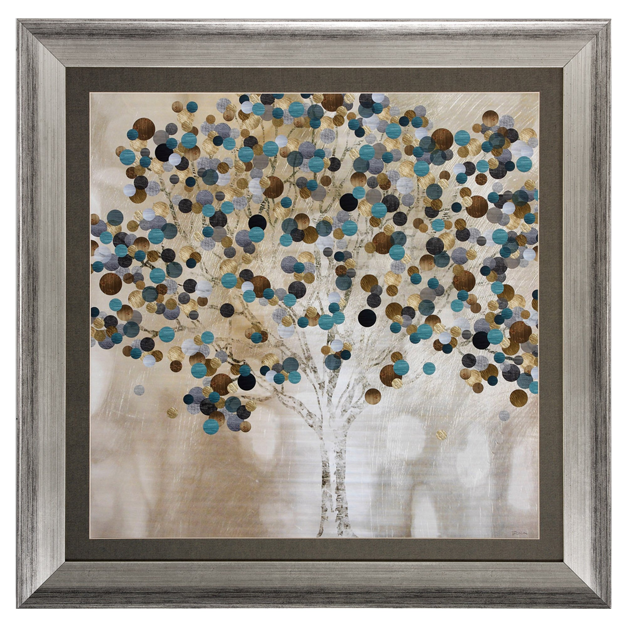 Propac A Teal Tree Framed Graphic Art & Reviews