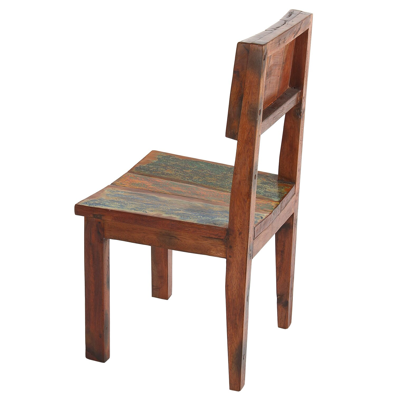 Reclaimed boat wood side dining chair wayfair