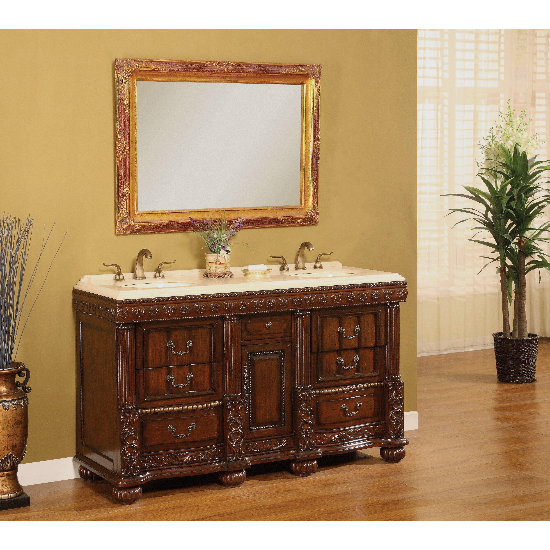 Excellent Direct Imports Kent 603939 Double Bathroom Vanity Set  Walmartcom