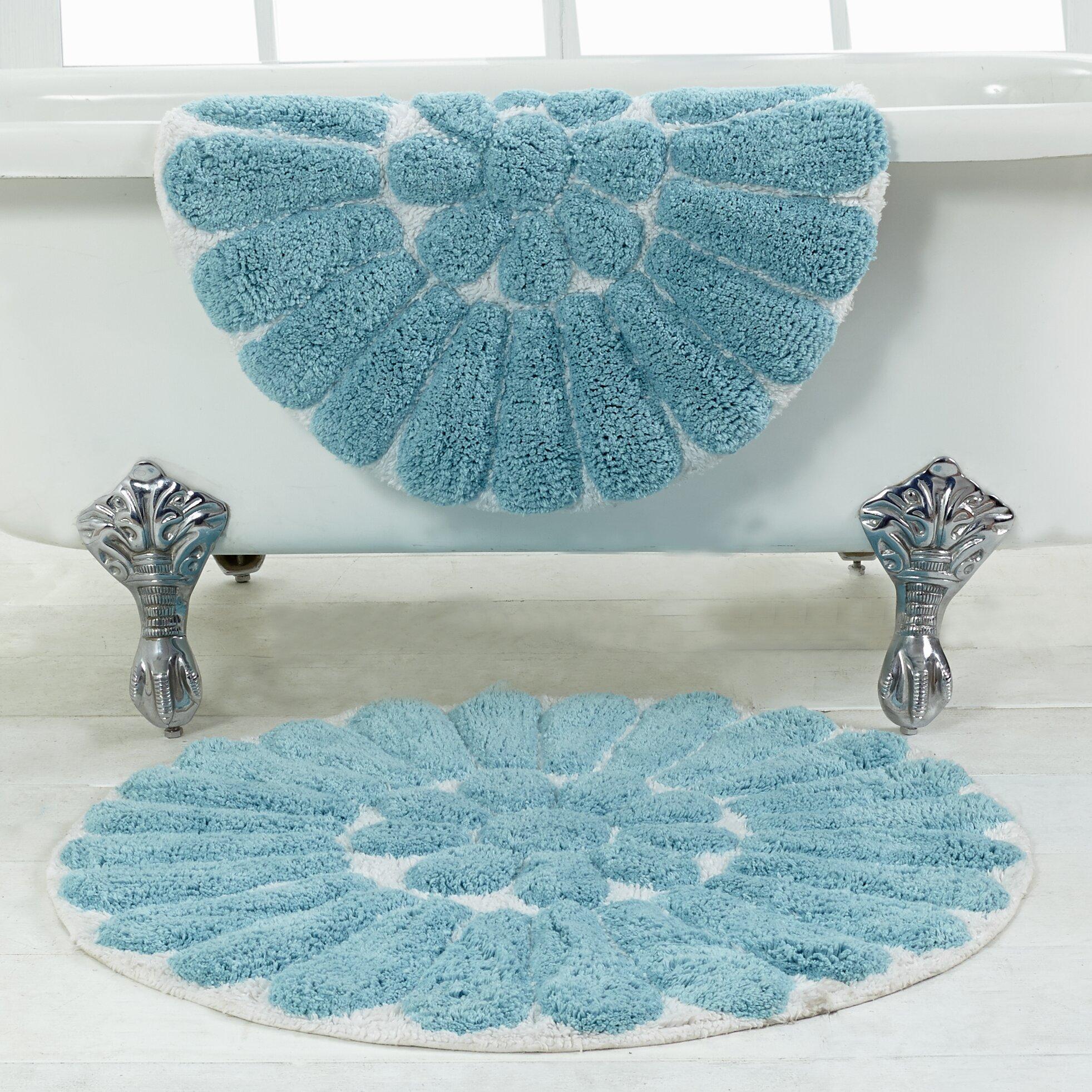 Chesapeake Merchandising Inc Bursting Flower 2 Piece Bath Rug Set
