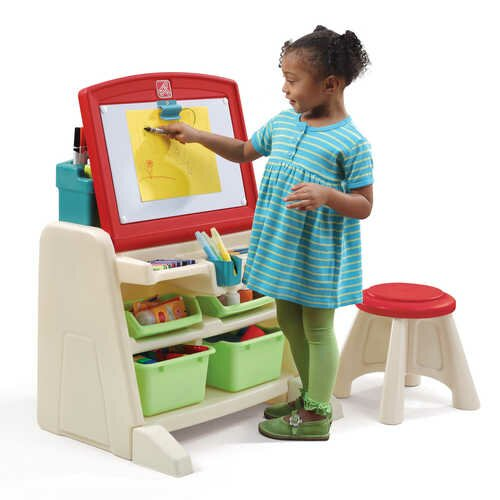 Flip And Doodle Easel Desk With Stool Wayfair