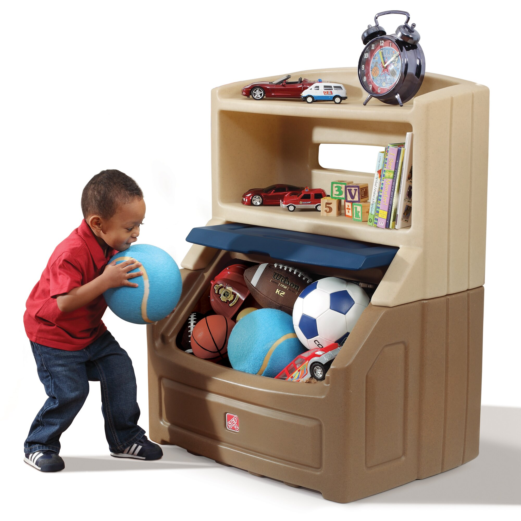Lift And Hide Bookcase Storage Toy Box Wayfair