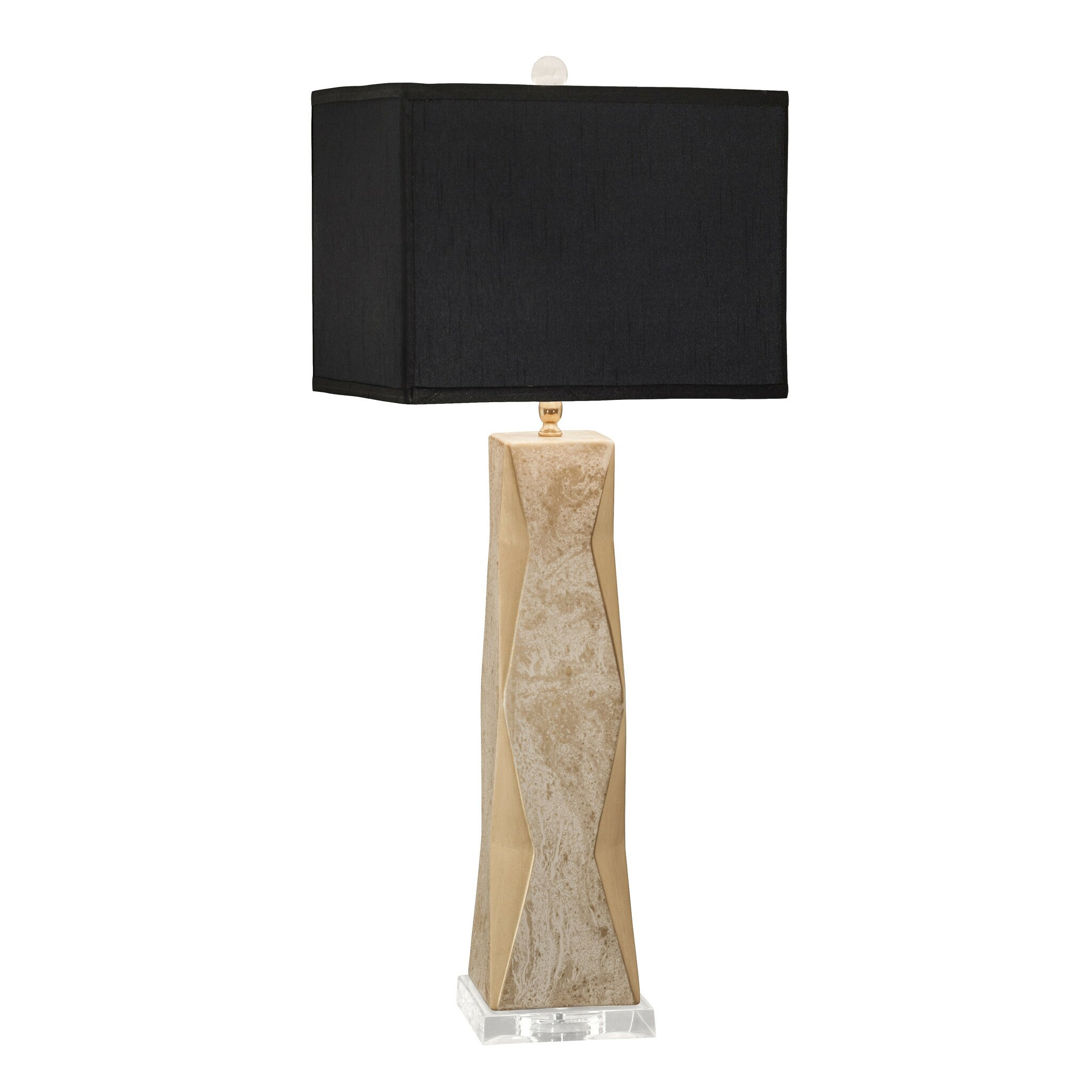 geo 33 table lamp with rectangular shade reviews. Black Bedroom Furniture Sets. Home Design Ideas
