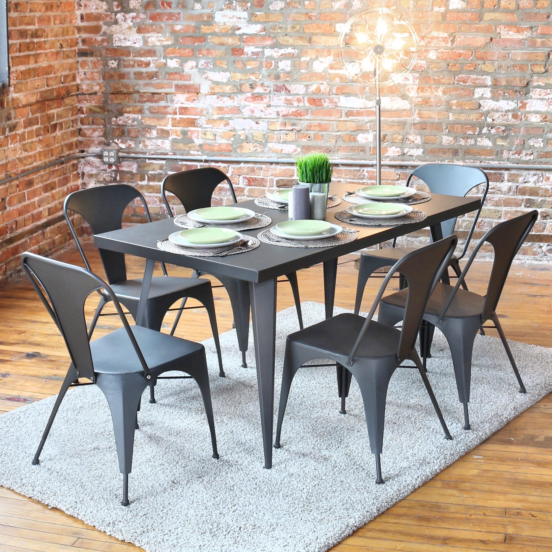 LumiSource Austin Dining Table Reviews Wayfair