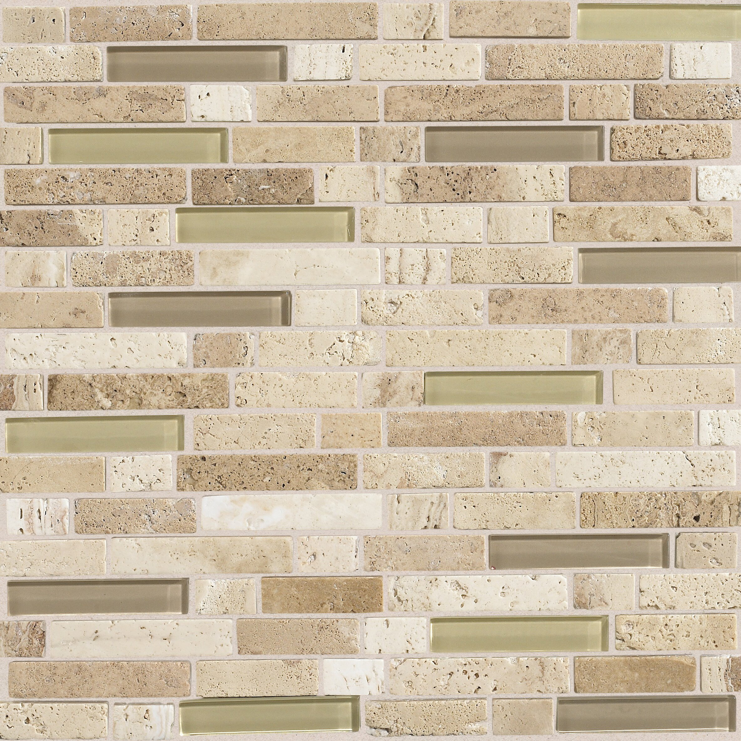Daltile Stone Radiance Random Sized Slate Mosaic Tile in