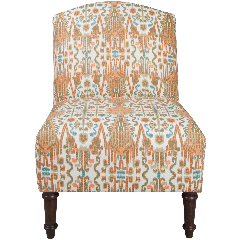 Ikat Bombay Camel Back Slipper Chair