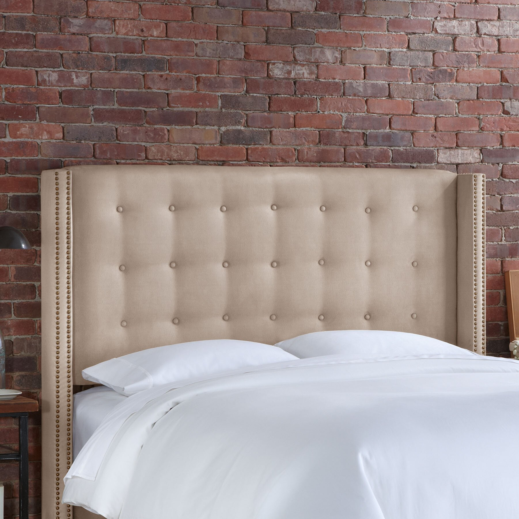 Skyline Furniture Nail Button Tufted Upholstered Headboard