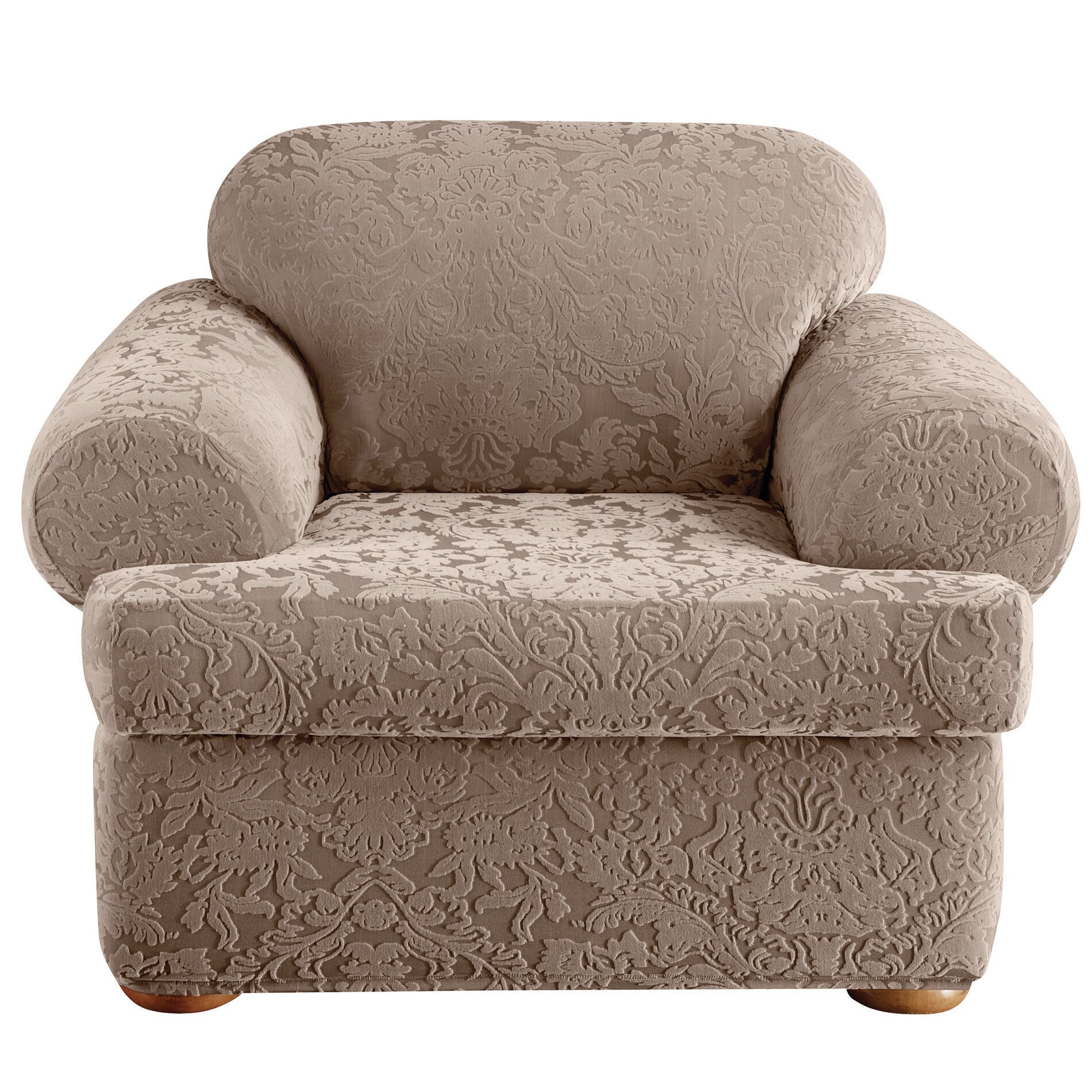 Sure Fit Stretch Jacquard Damask Armchair T Cushion