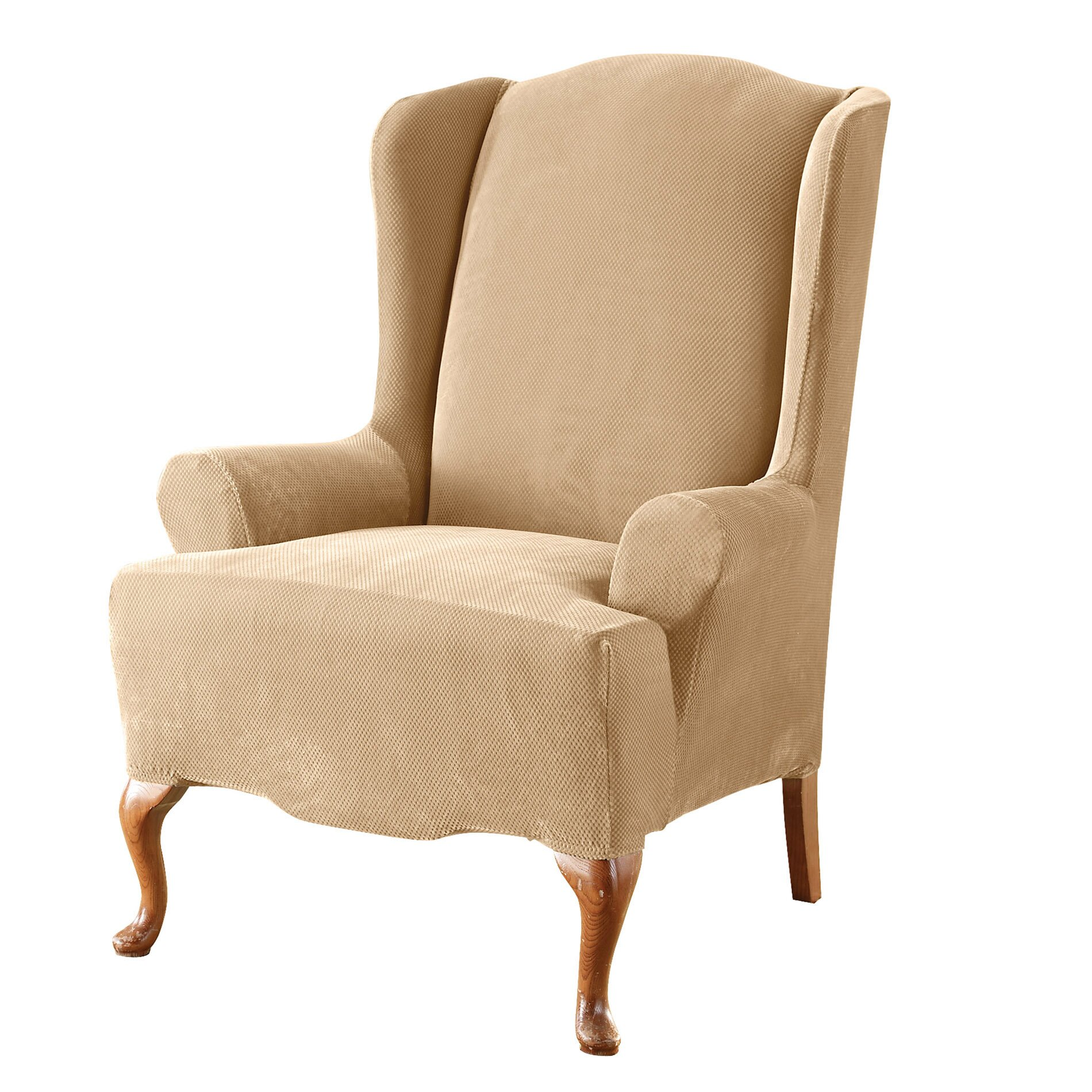 sure fit stretch pique wing chair slipcover reviews wayfair