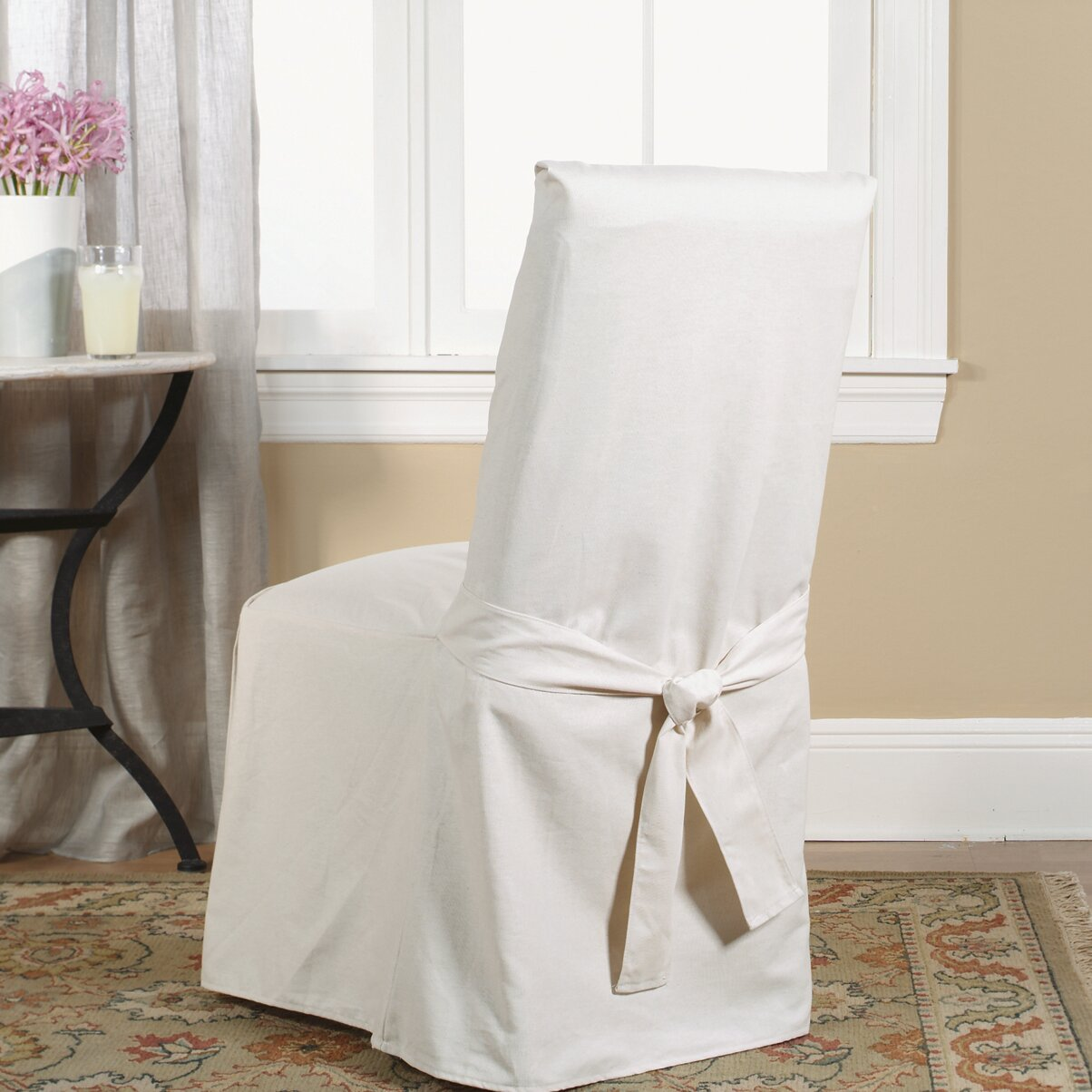 duck full length dining room chair slipcover reviews wayfair