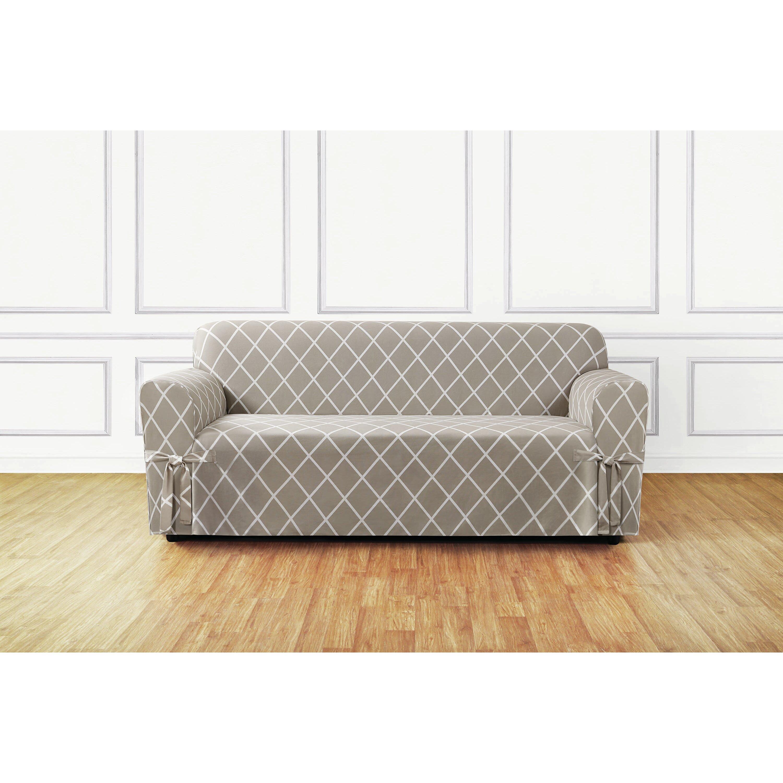 sure fit lattice sofa slipcover reviews wayfair. Black Bedroom Furniture Sets. Home Design Ideas