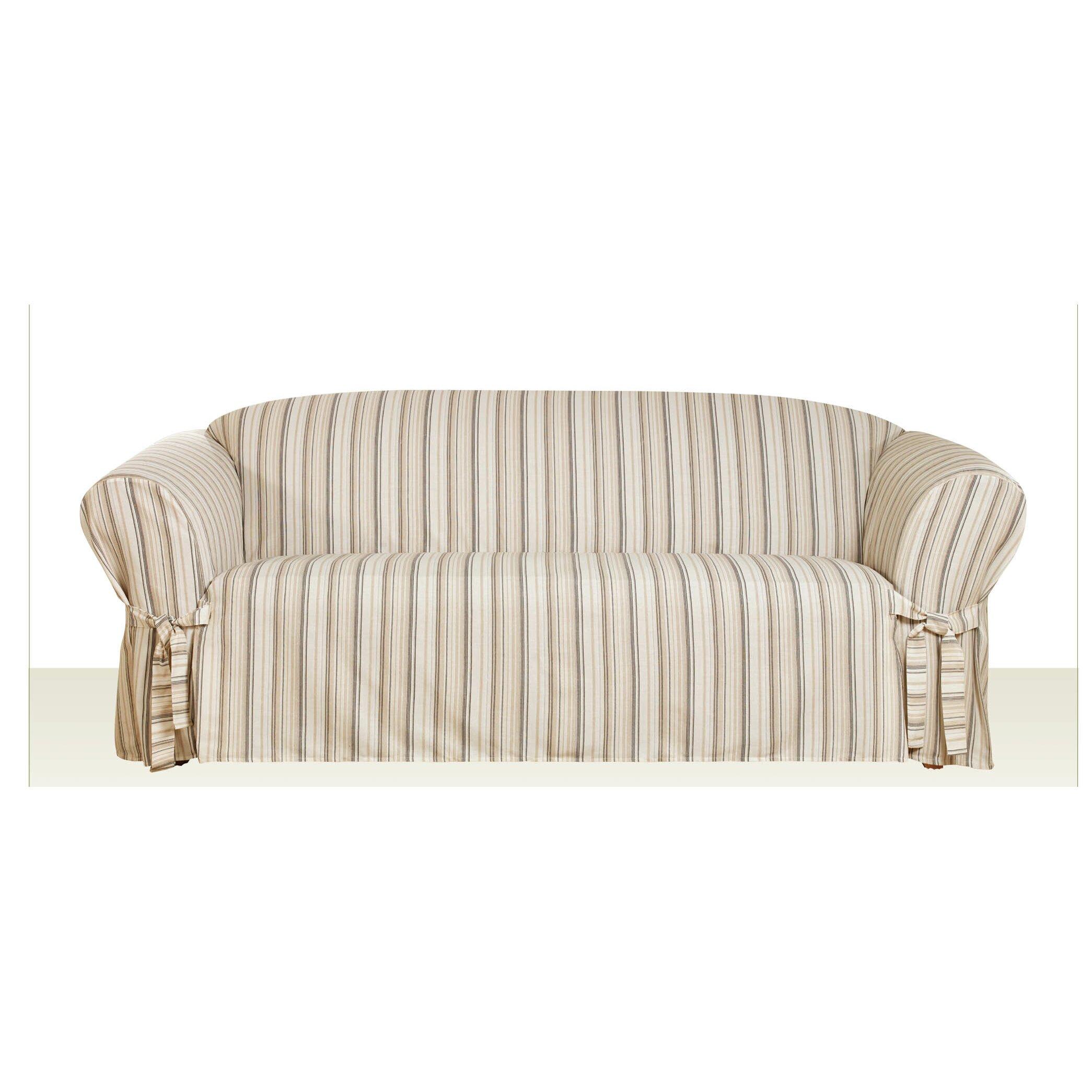 Sure Fit Seaside Sofa T-Cushion Skirted Slipcover