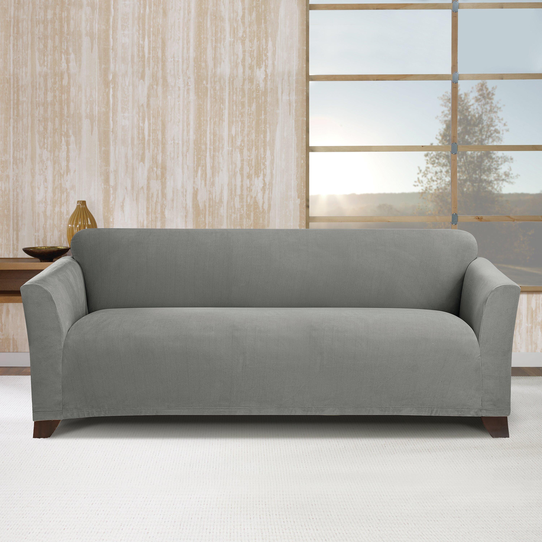 Sure Fit Simple Stretch Subway Sofa Box Cushion Slipcover