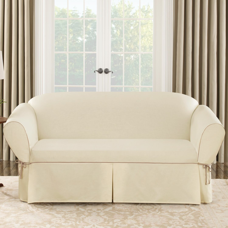 Sofa Slipcover: Sure Fit Cotton Duck Sofa Slipcover & Reviews