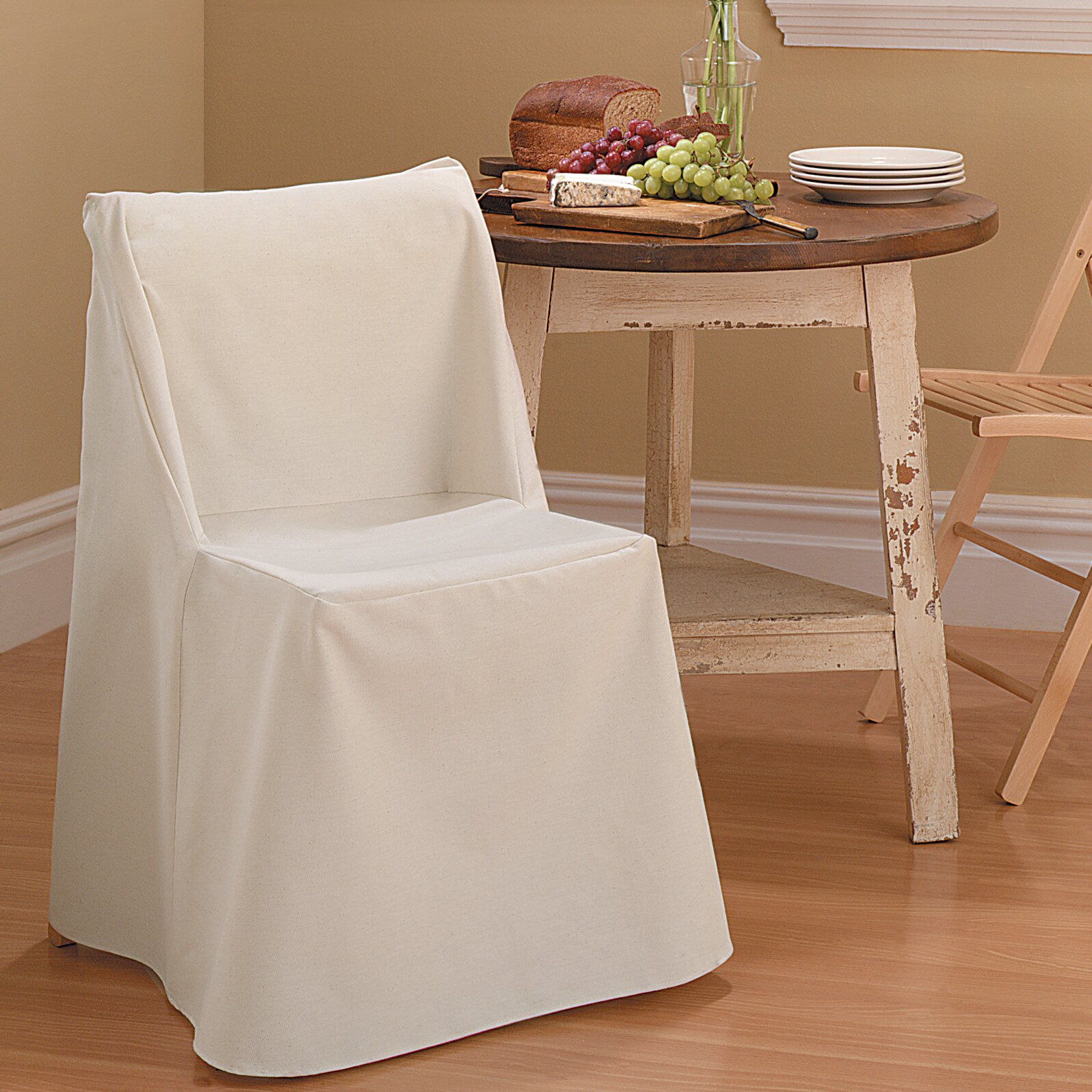 Sure Fit Cotton Duck Folding Chair Slipcover & Reviews