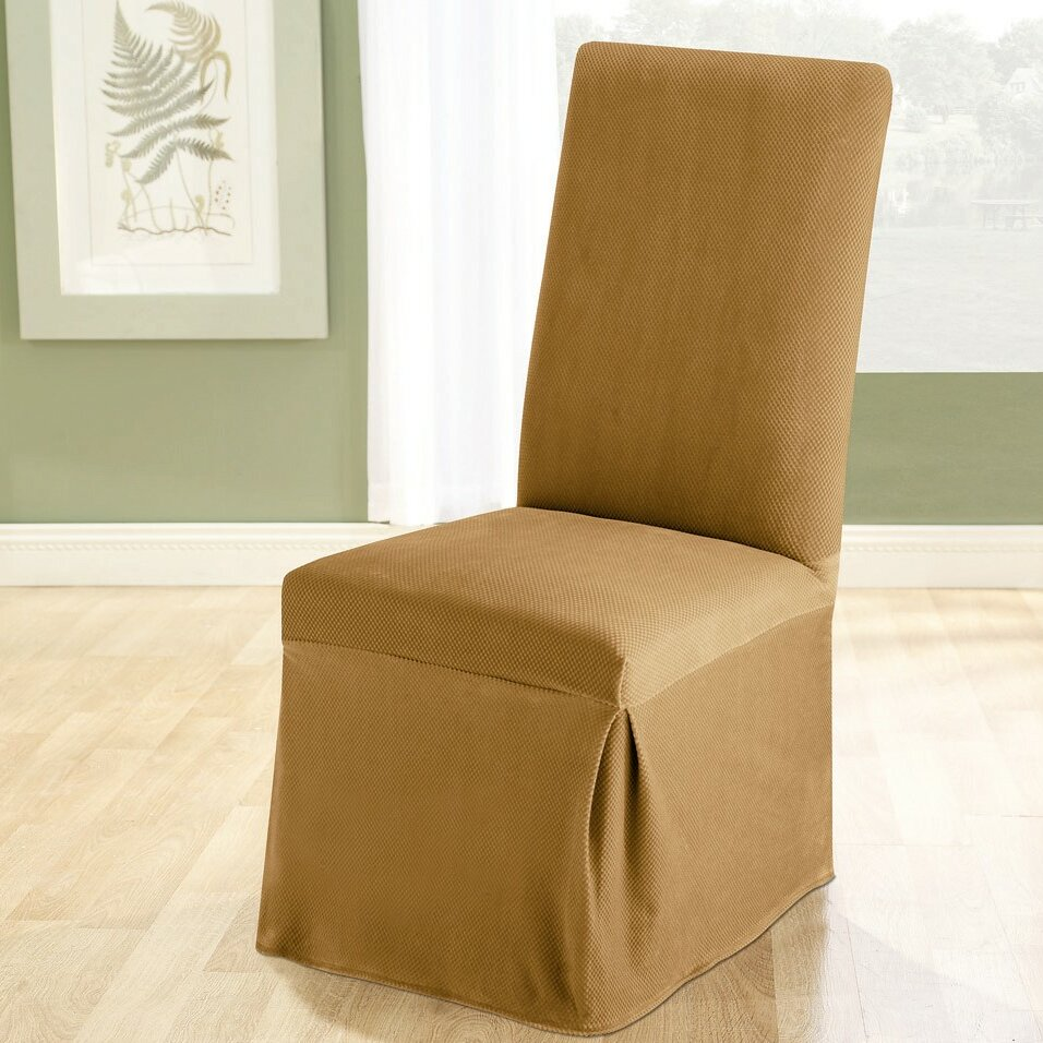 Sure Fit Stretch Pique Dining Chair Slipcover & Reviews