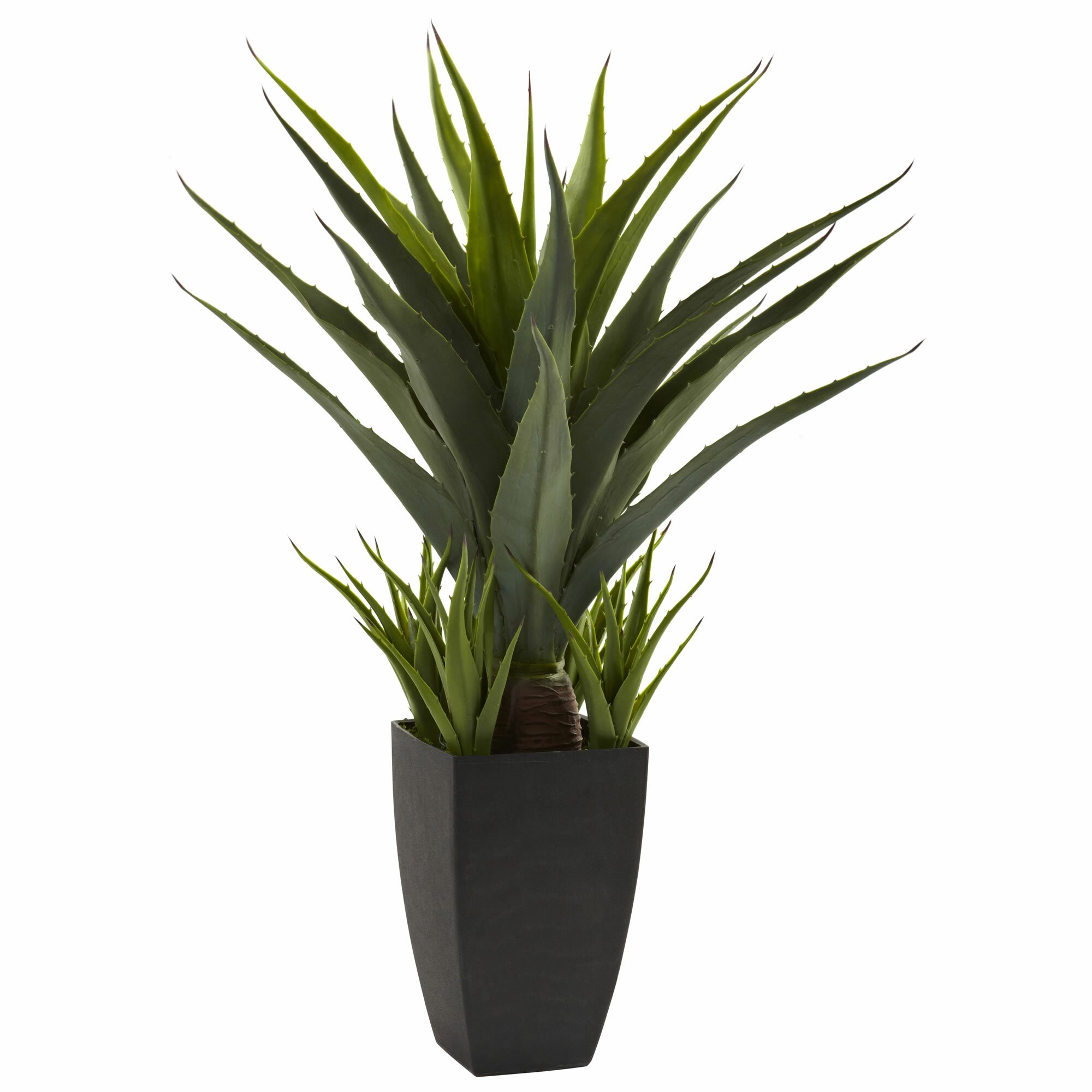 Nearly Natural Agave Desk Top Plant in Decorative Vase