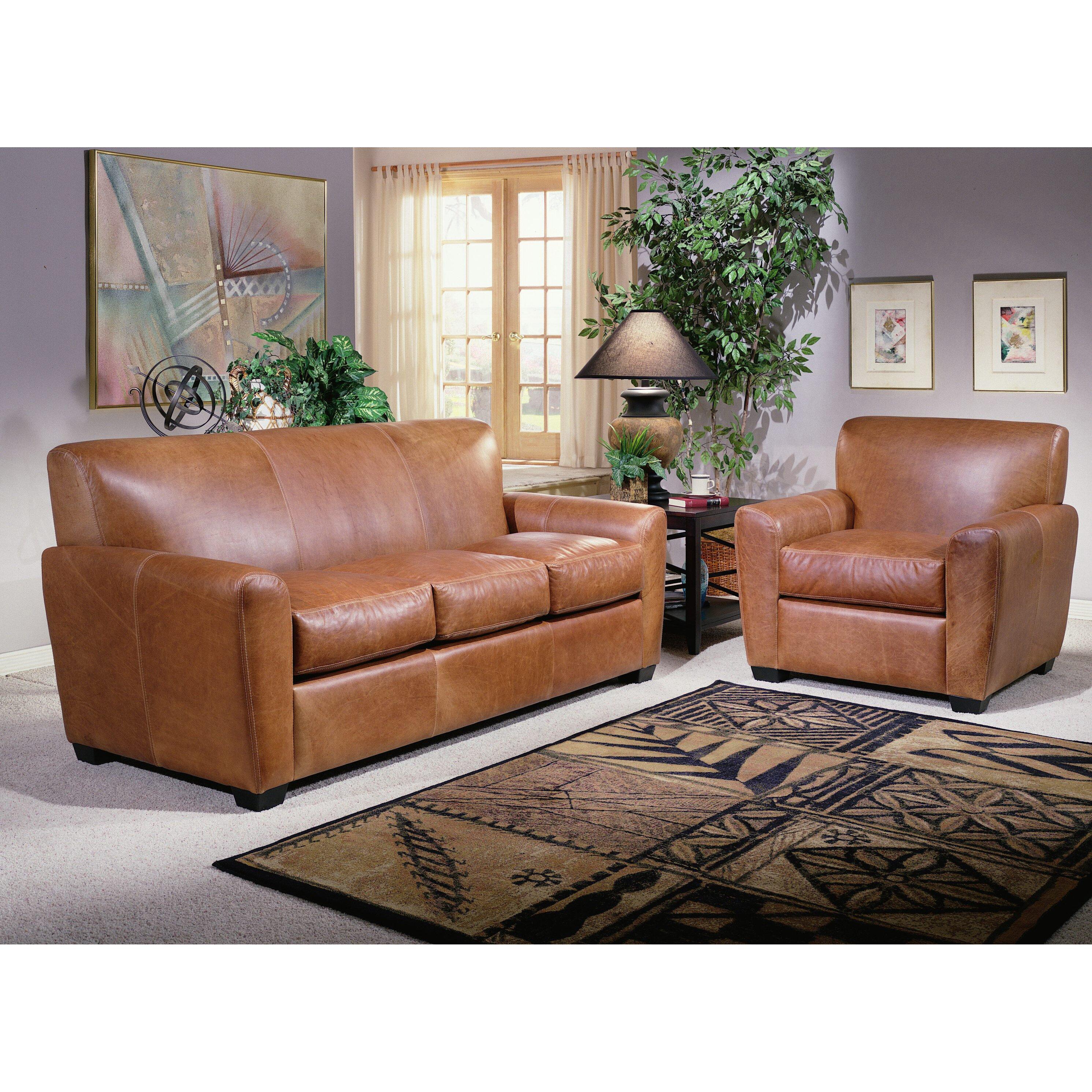 Armani Leather Sleeper Sofa