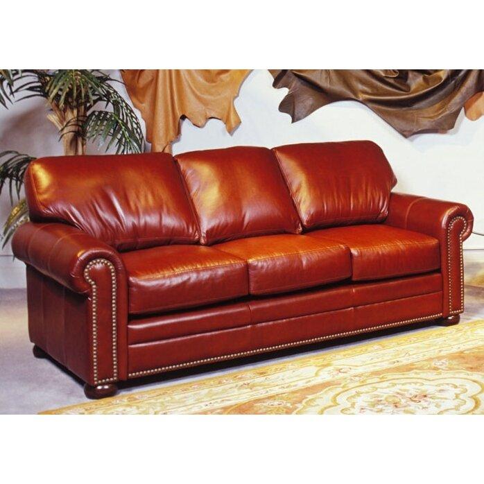Leather Sofas Reviews: Omnia Leather Savannah Full Leather Sleeper Sofa & Reviews