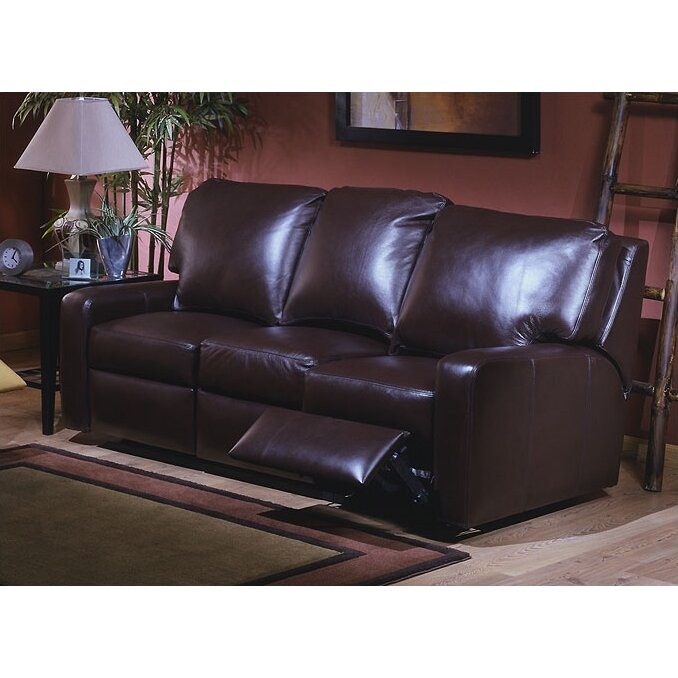 Leather Sofas Reviews: Omnia Leather Mirage Leather Reclining Sofa & Reviews