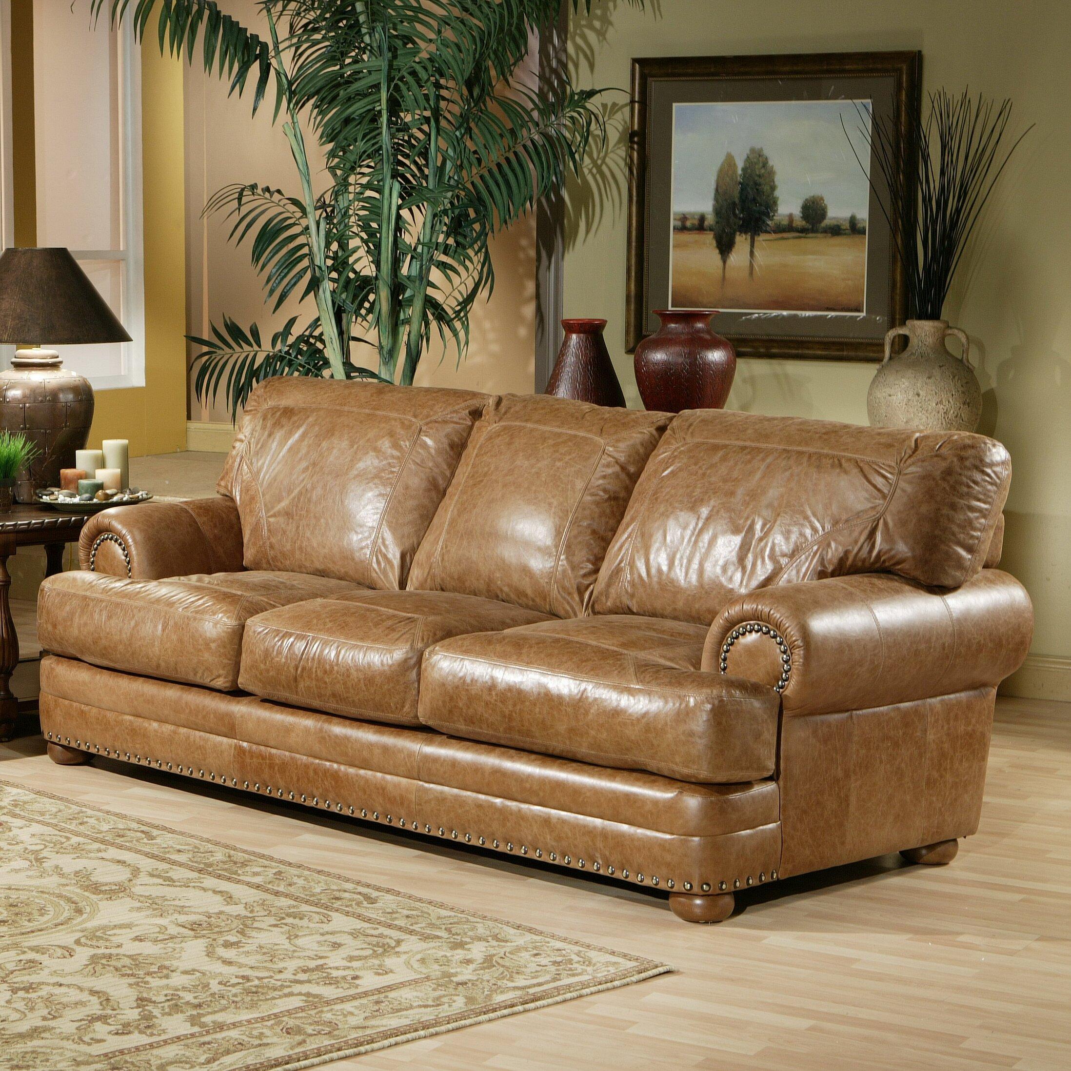 Leather Sofas Reviews: Omnia Leather Houston Leather Sofa & Reviews