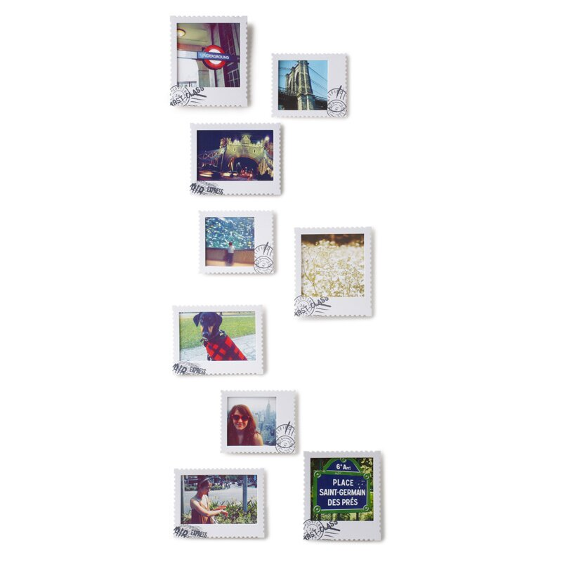 Umbra Pluff Wall Decor Set Of 9 : Postal wall mount piece picture frame set wayfair