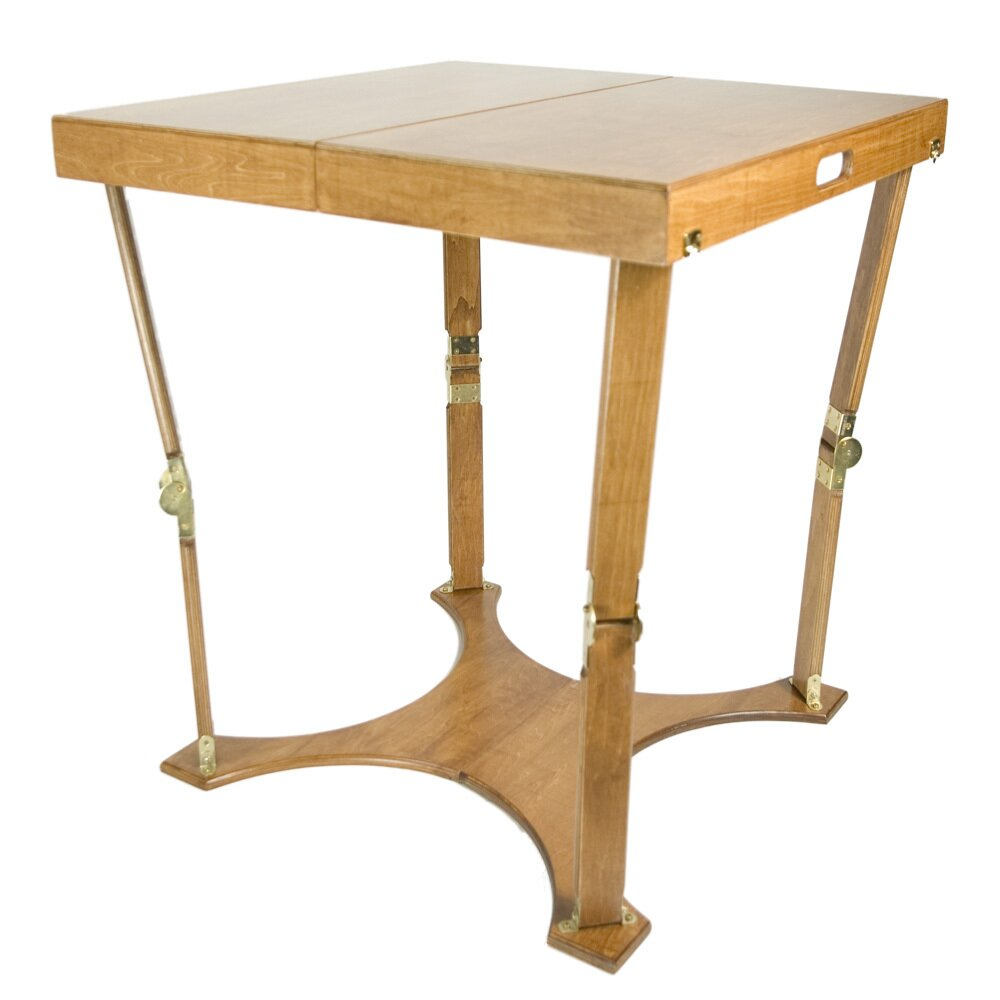 Portable folding dining table wayfair for Table retractable