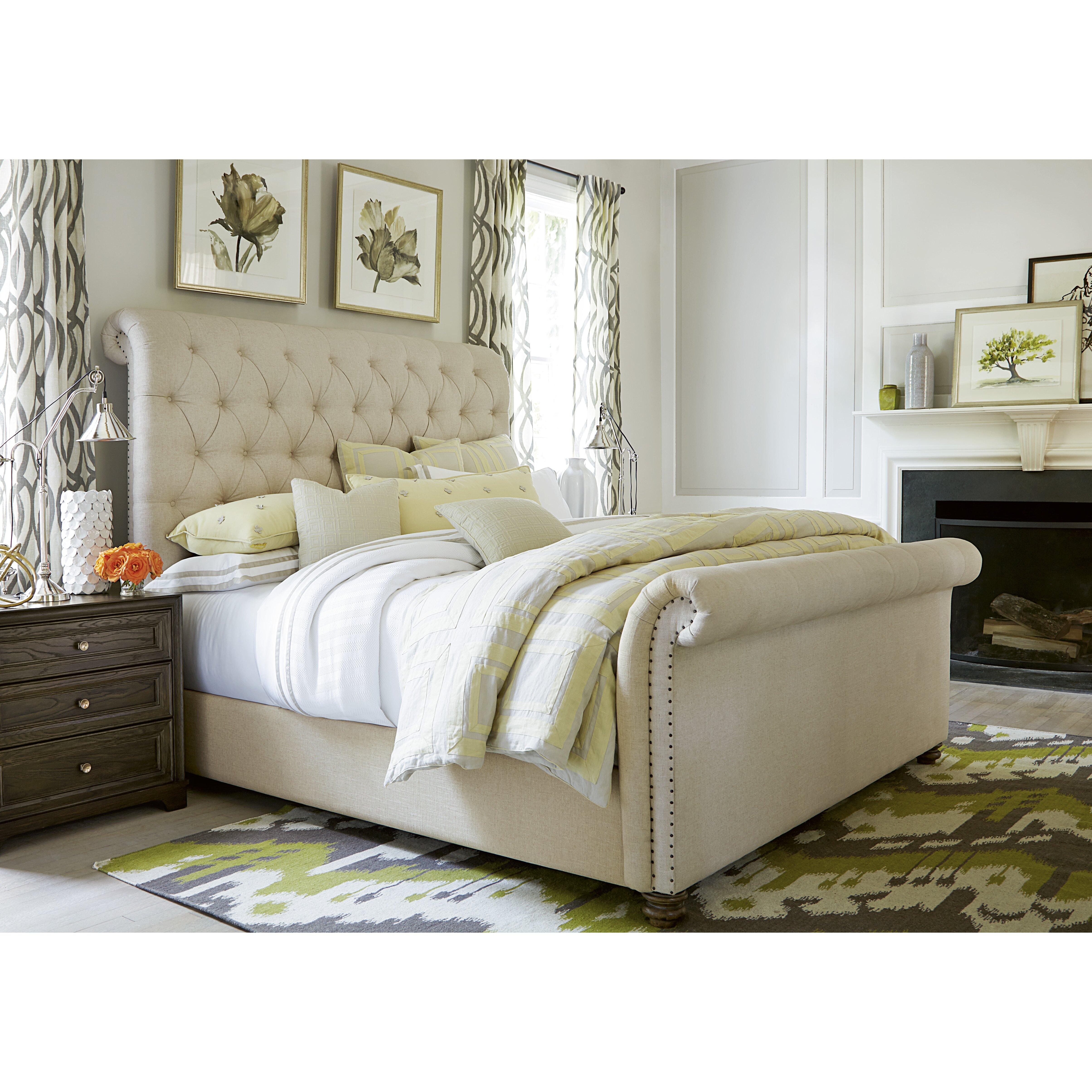 Queen Upholstered Sleigh Bed Wayfair