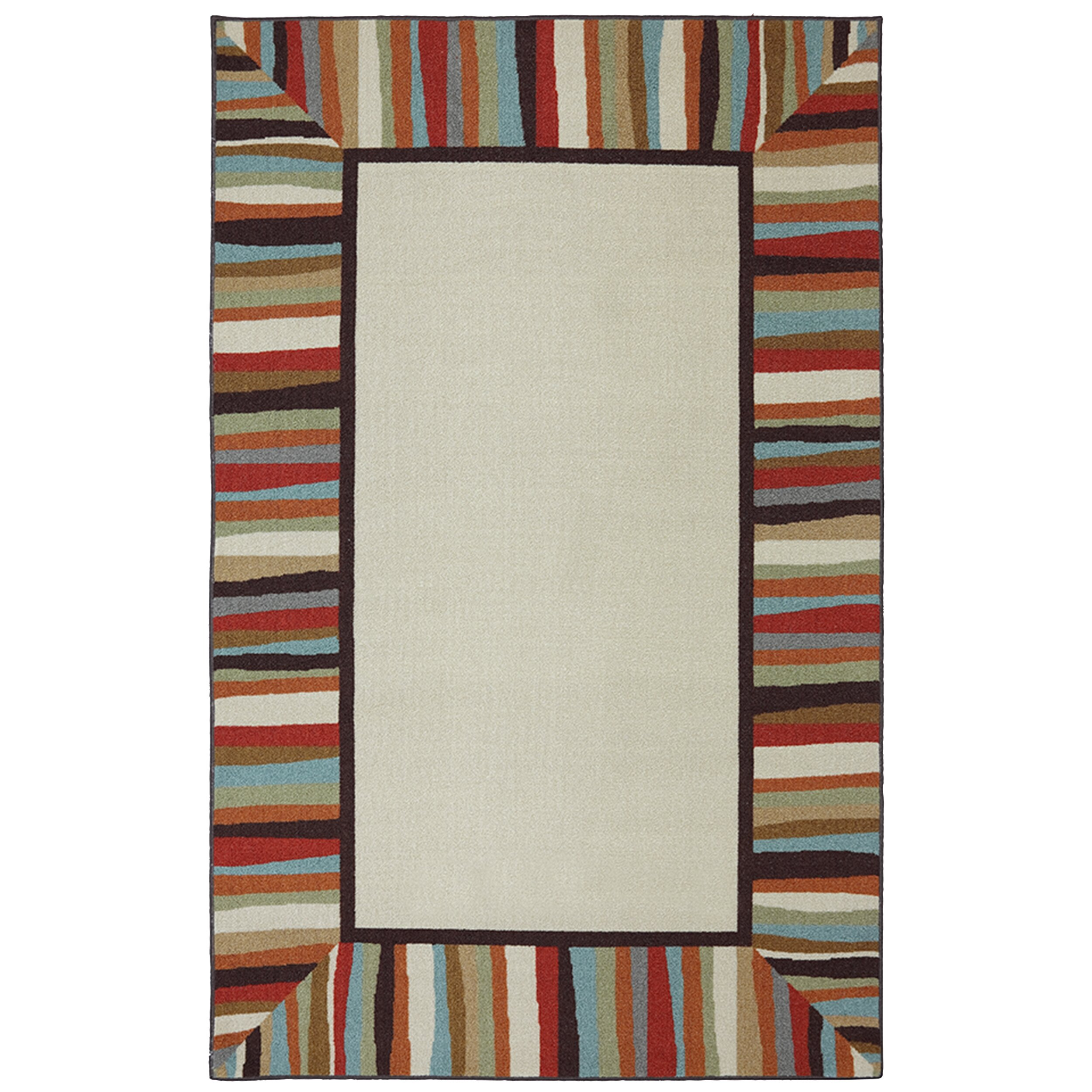 Mohawk Home Patio Border Rainbow Outdoor Area Rug
