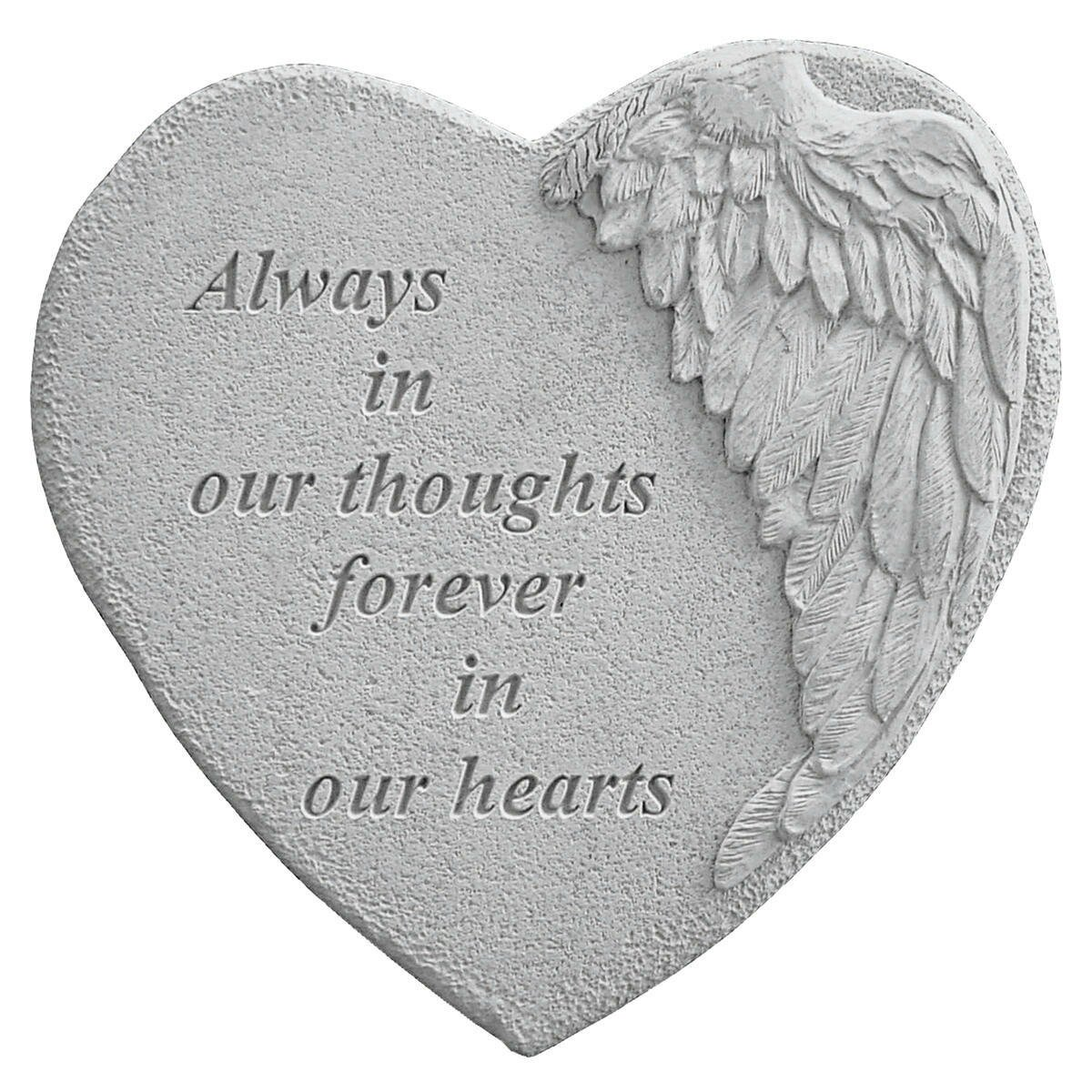 Always In Our Thoughts Forever In Our Hearts Quotes: Design Toscano Always In Thoughts...Angel Wing Memorial