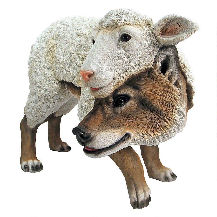 Design Toscano Wolf In Sheeps Clothing Garden Statue