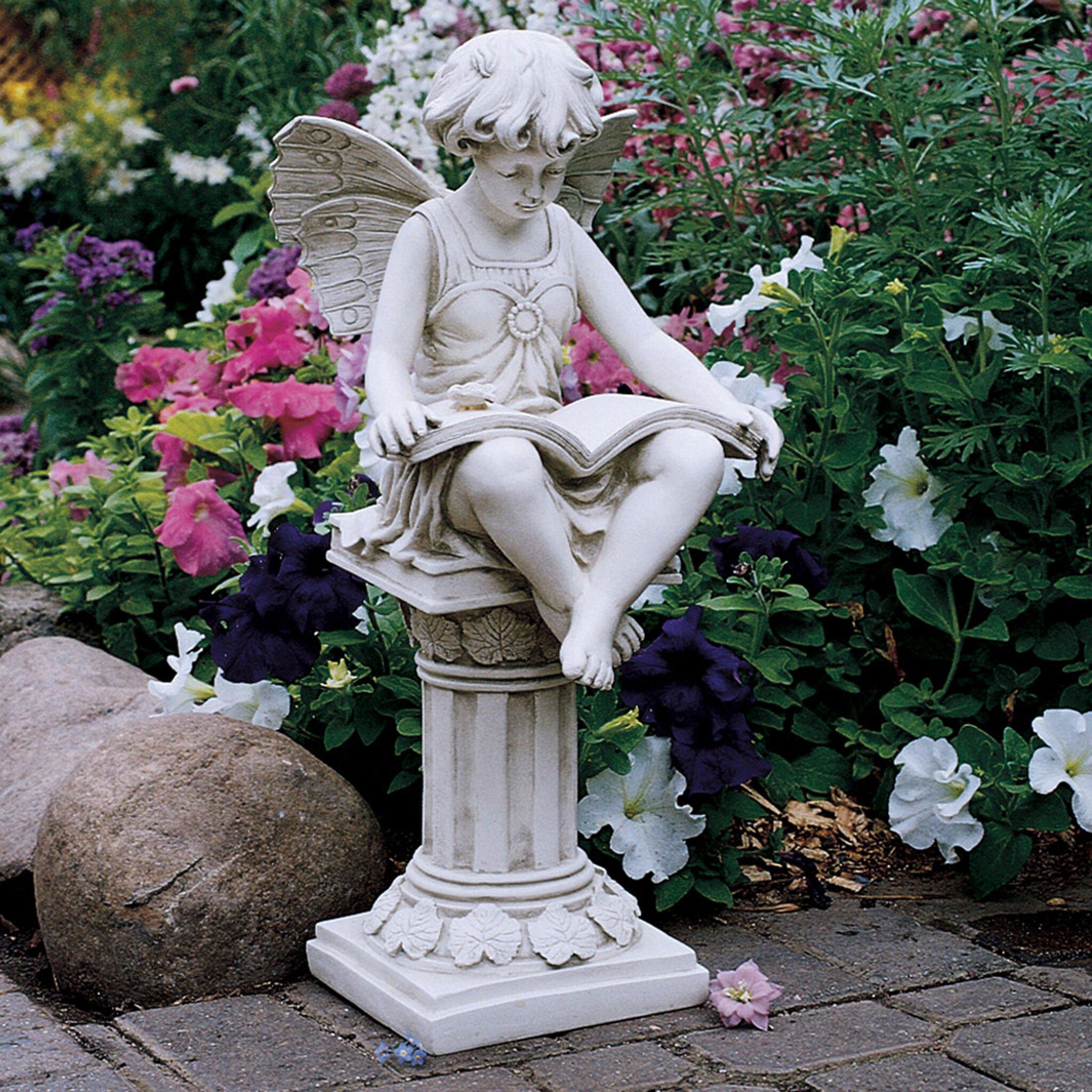 Wayfair Garden Statues: Design Toscano The British Reading Fairy Garden Statue