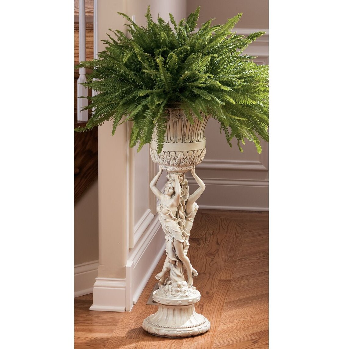 Les Filles Joyeuses Neoclassical Pedestal Plant Stand