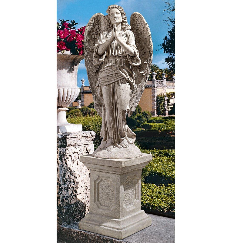 Wayfair Garden Statues: Grand Basilica Praying Angel Garden Statue
