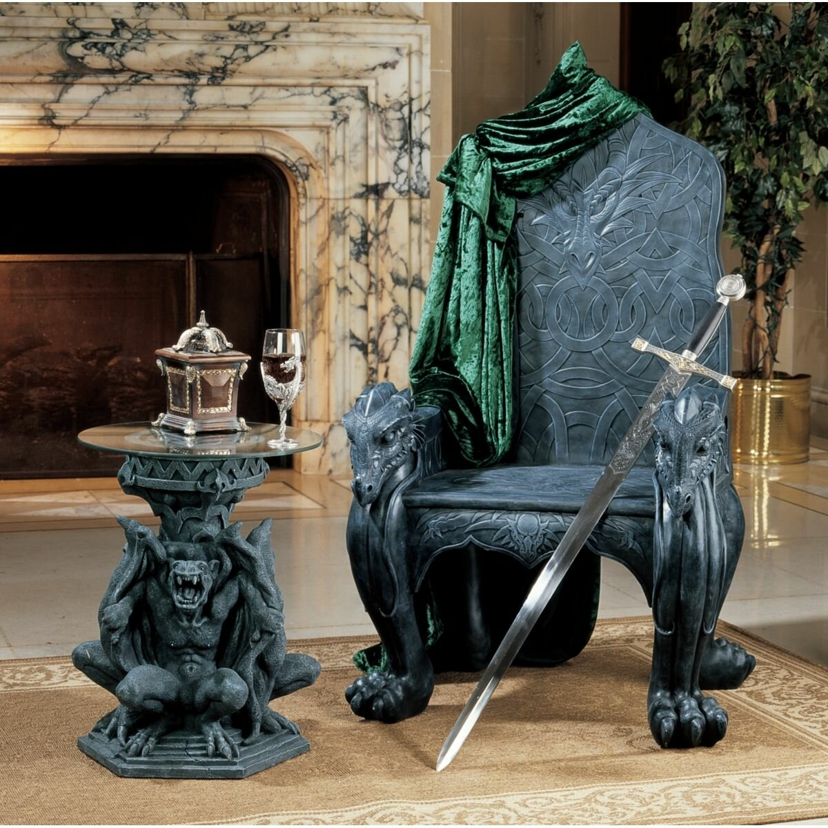 Celtic Dragon Throne Arm Chair Wayfair