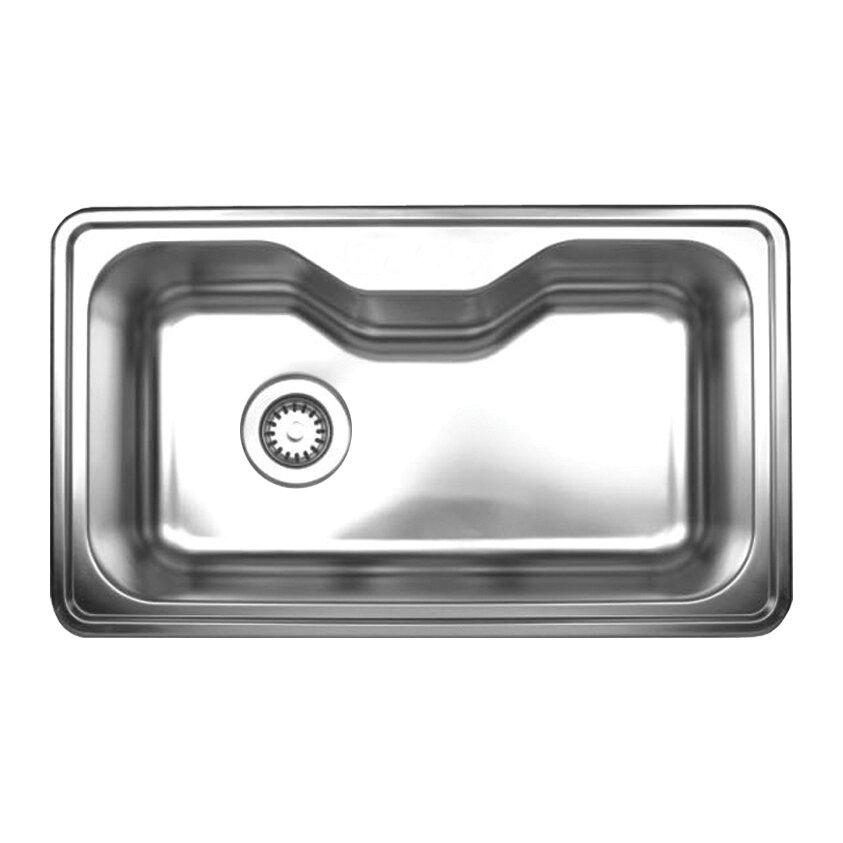 "Kitchen Sink 19 X 33: Noah's 33.5"" X 19.75"" Single Bowl Drop-in Kitchen Sink"