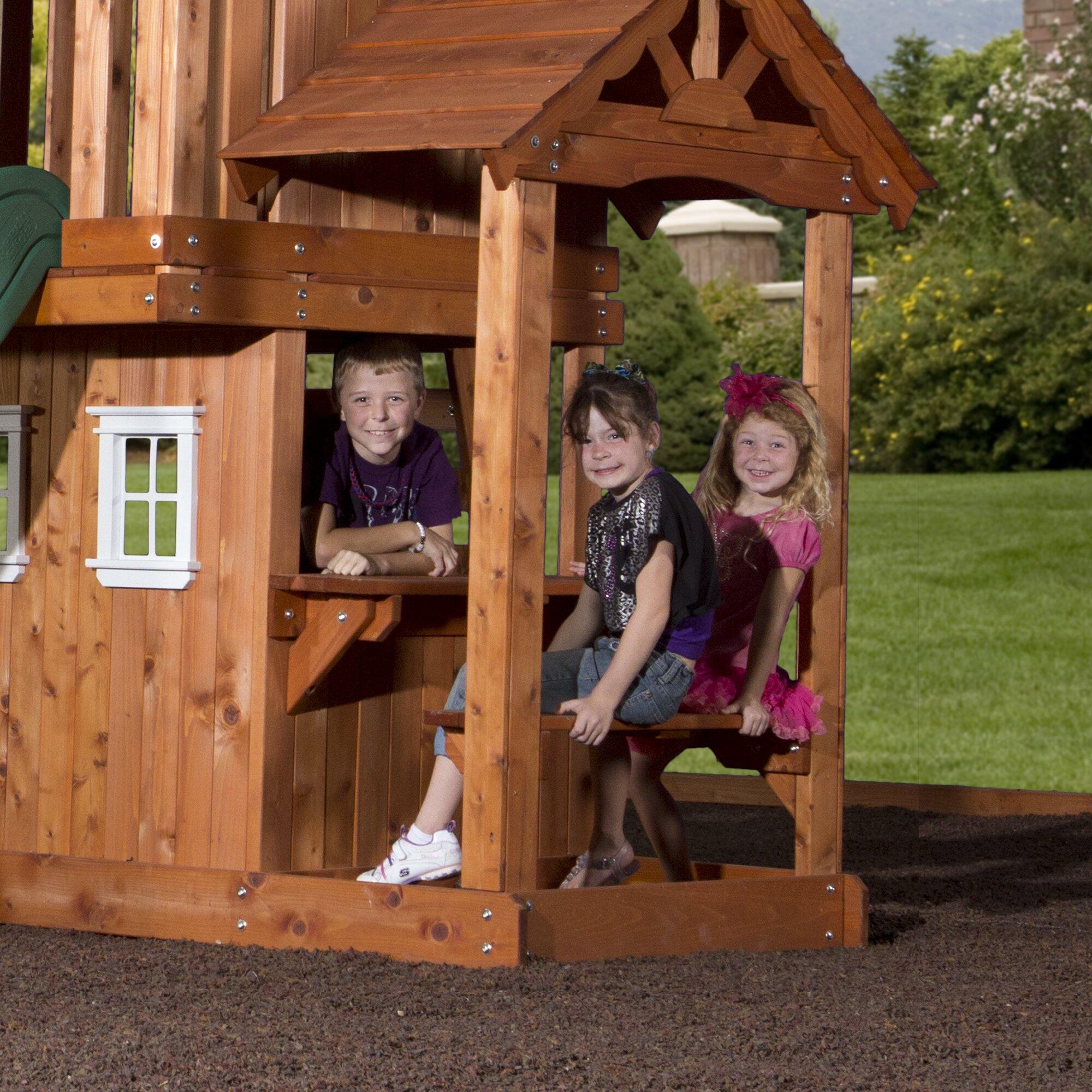 Tanglewood All Cedar Swing Set | Wayfair