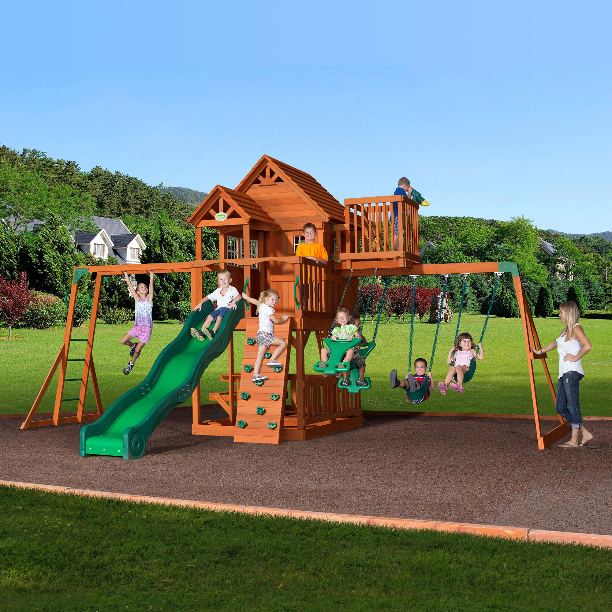 backyard discovery skyfort all cedar swing set reviews