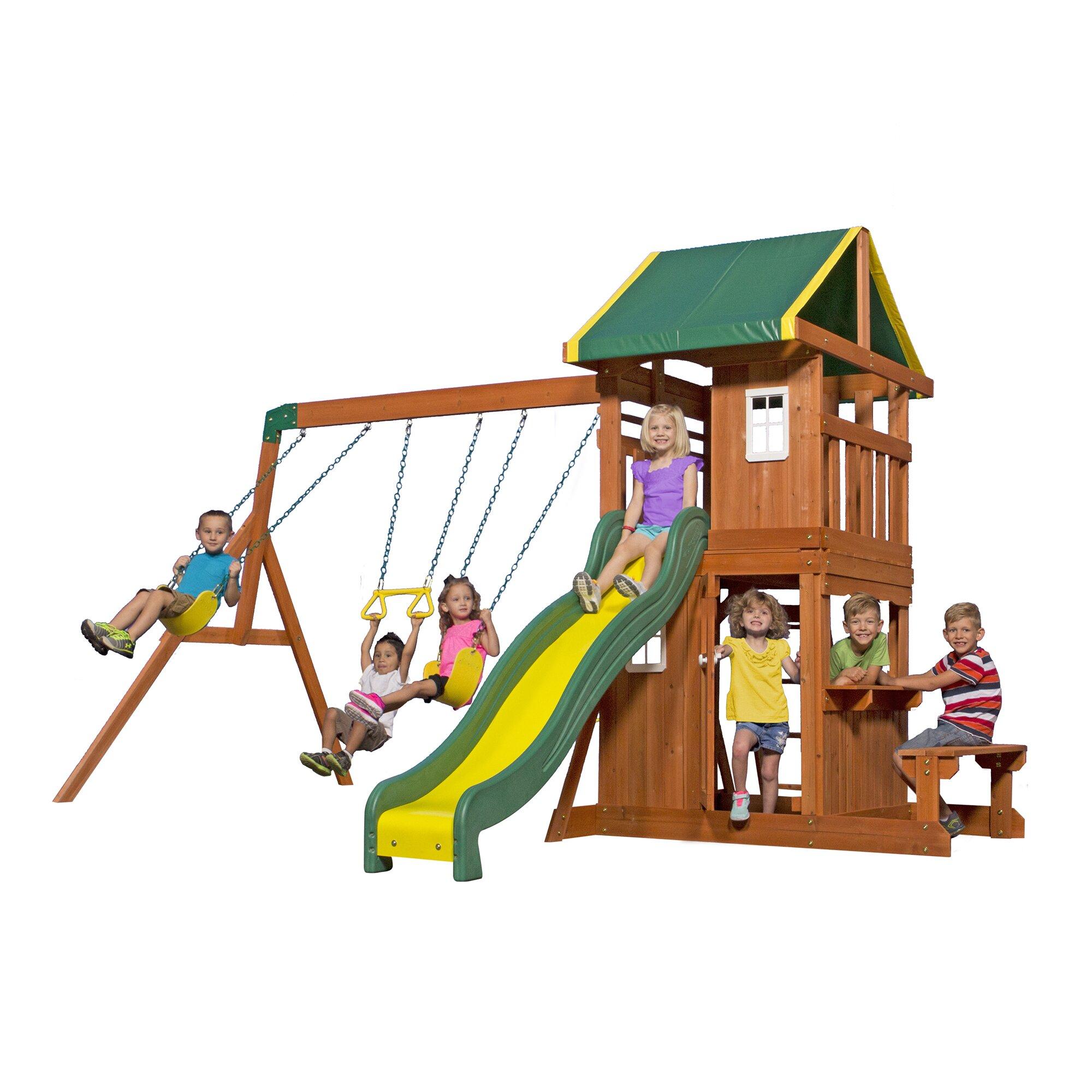 Backyard Discovery Oakmont All Cedar Swing Set Amp Reviews