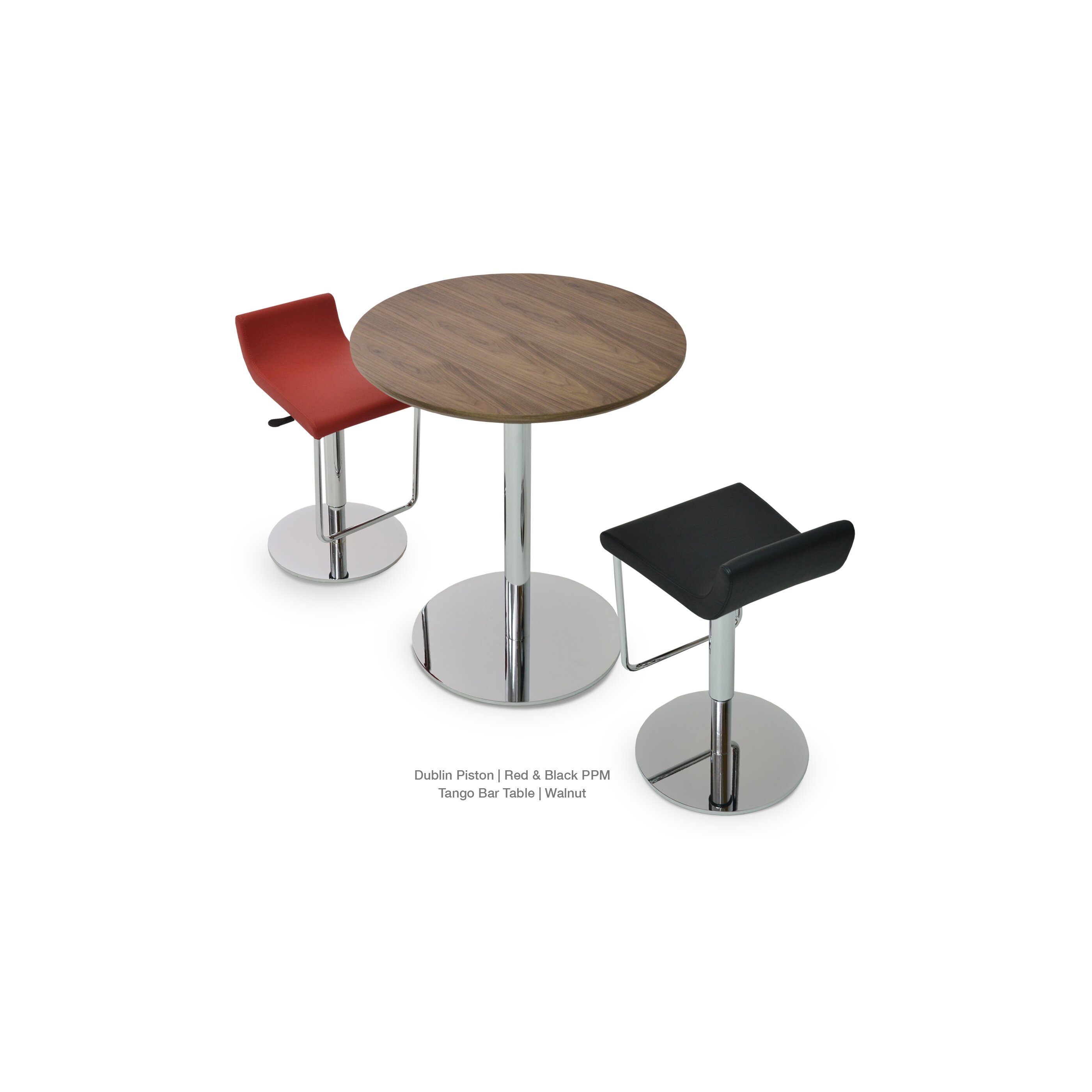Sohoconcept Dublin Piston Adjustable Height Swivel Bar