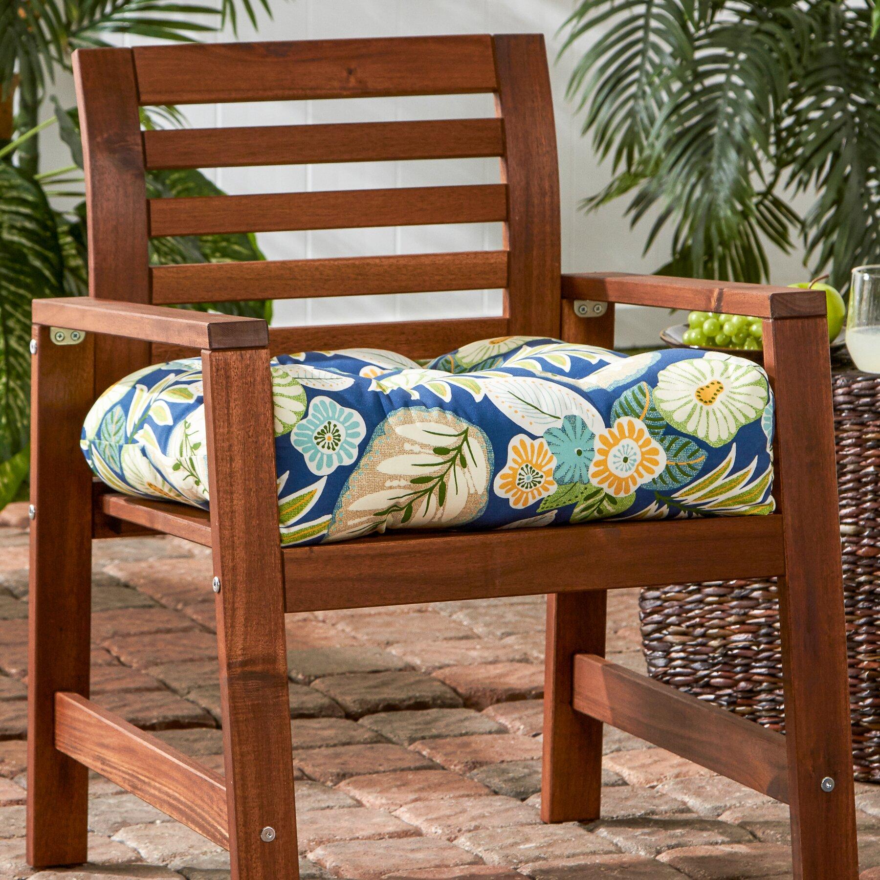 outdoor dining chair cushion wayfair. Black Bedroom Furniture Sets. Home Design Ideas