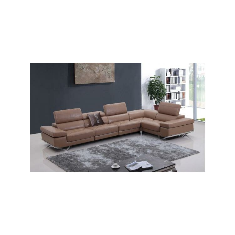 VIG Furniture Divani Casa Leather Sectional  AllModern